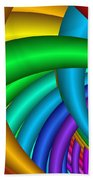 Fractalized Colors -9- Beach Towel by Issabild -