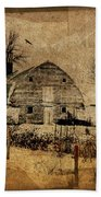 Fragmented Barn  Beach Towel by Julie Hamilton