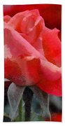 Fragmented Pink Rose Beach Towel