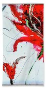Framed Scribbles And Splatters On Canvas Wrap Beach Towel