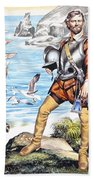 Francis Drake And The Golden Hind Beach Towel