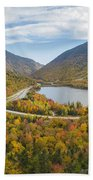 Franconia Notch Autumn View Beach Towel