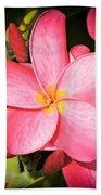 Frangipani Blossom Beach Towel