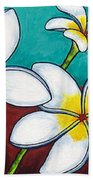 Frangipani Delight Beach Towel