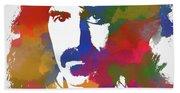 Frank Zappa Watercolor Beach Towel
