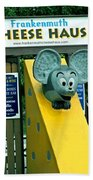 Frankenmuth Cheese Haus Mouse  Beach Towel