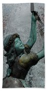 Frankenmuth Fountain Girl Beach Towel