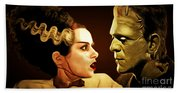 Frankenstein And The Bride I Have Love In Me The Likes Of Which You Can Scarcely Imagine 20170407 Beach Towel