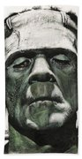 Frankenstein Portrait Beach Towel