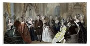 Franklin's Reception At The Court Of France Beach Towel
