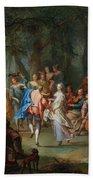 Franz Christoph Janneck Graz 1703-1761 Vienna A Dance In The Palace Gardens, Beach Sheet