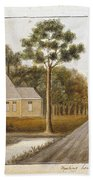 Fraser  Charles   Meeting House In Prince Williams Parish From Untitled Sketchbook Beach Towel