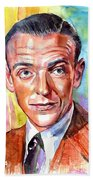Fred Astaire Painting Beach Towel