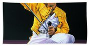 Freddie Mercury Live Beach Towel