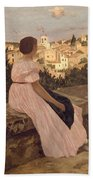 Frederic Bazille   The Pink Dress Beach Towel