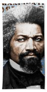 Frederick Douglass And Emancipation Proclamation Painting In Color  Beach Towel