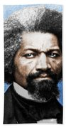 Frederick Douglass Painting In Color  Beach Towel