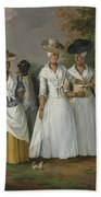 Free Women Of Color With Their Children And Servants In A Landscape Beach Towel