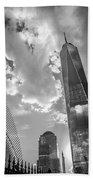Freedom Tower Bw Beach Towel