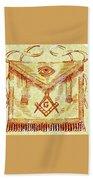 Freemason Symbolism Beach Towel