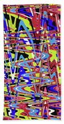 Freeway Of Colors Abstract Beach Towel