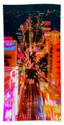 Fremont Street For One From The Heart Beach Towel