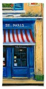 French Cheese Shop Beach Towel by Marilyn Dunlap