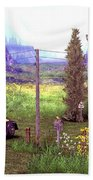 French Countyside  Scene Beach Towel