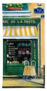 French Creperie Beach Towel by Marilyn Dunlap