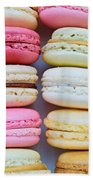 French Delicious Dessert Macaroons Beach Towel