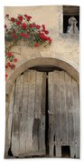 French Doors And Ghost In The Window Beach Towel by Marilyn Dunlap