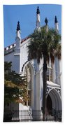 French Huguenot Church In Charleston Beach Towel