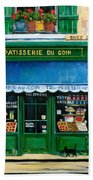 French Pastry Shop Beach Sheet