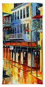 French Quarter Sunrise Beach Towel