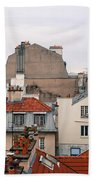 French Rooftops  Beach Towel