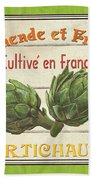 French Vegetable Sign 2 Beach Towel