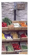 French Vegetable Stand Beach Towel