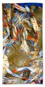 Fresh Crab In Market Beach Towel