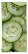 Fresh Cucumbers Beach Towel