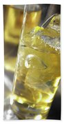 Fresh Drink With Lemon Beach Towel