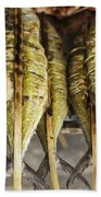 Fresh Grilled Asian Fish In Kep Market Cambodia Beach Towel