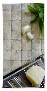 Fresh Italian Cooking Ingredients Beach Towel