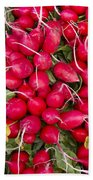 Fresh Red Radishes Beach Towel