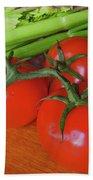 Fresh Tomatoes Beach Towel