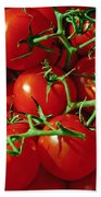 Fresh Tomotos On The Vine Beach Towel