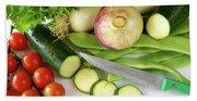 Fresh Vegetables Beach Sheet