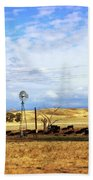Fresno County Pastoral Beach Towel