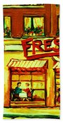 Fressers Takeout Deli Beach Towel