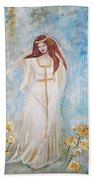Freya - Goddess Of Love And Beauty Beach Towel