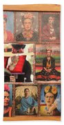 Frida Kahlo Display Picts Beach Towel